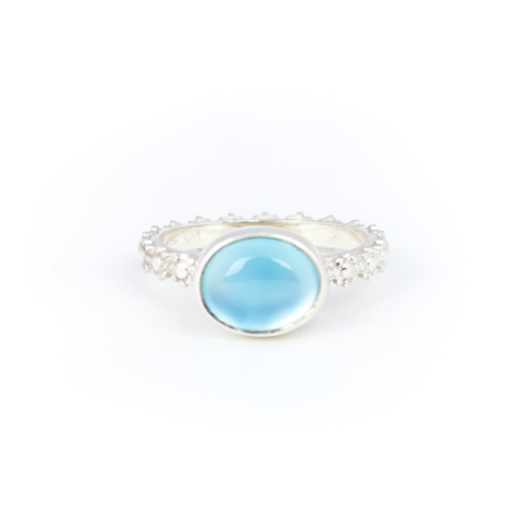 Fiona The Firecracker - Blue Chalcedony