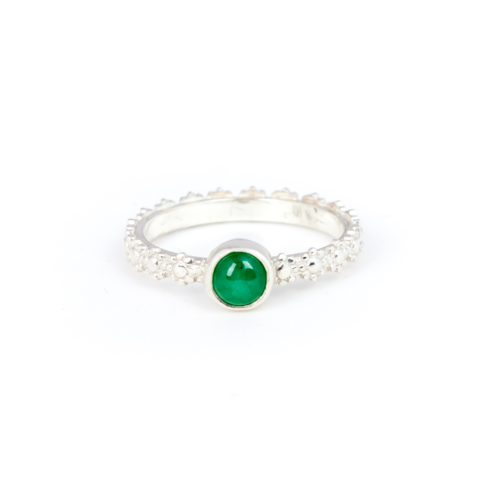 Fiona The Firecracker - Emerald Handmade Ring