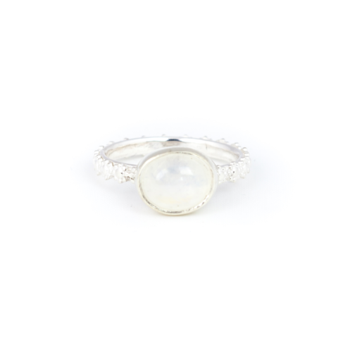 Fiona The Firecracker - Moonstone Handmde Ring