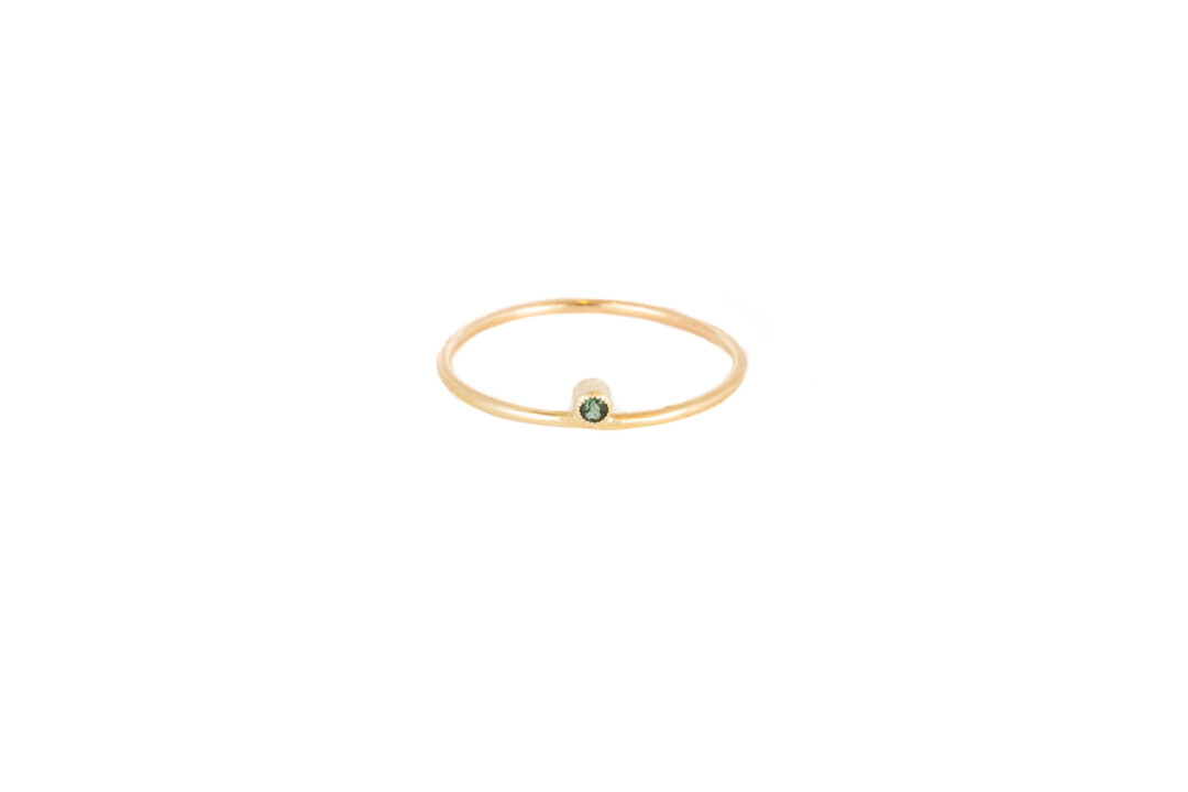 Jess The Mess - Green Tourmaline 14k a little lem