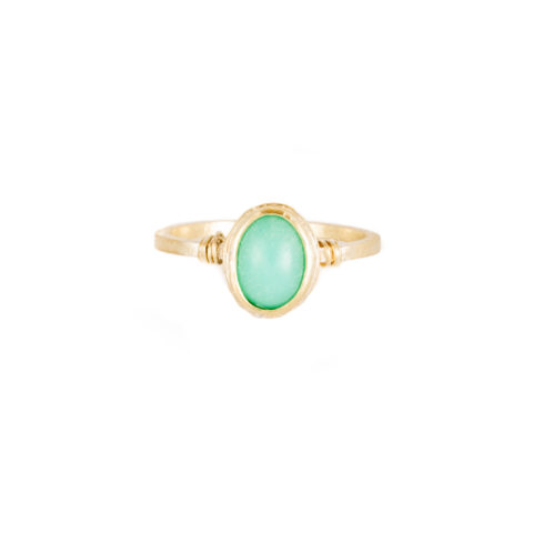 Claire The Criminal - Chrysoprase 14k a little lem
