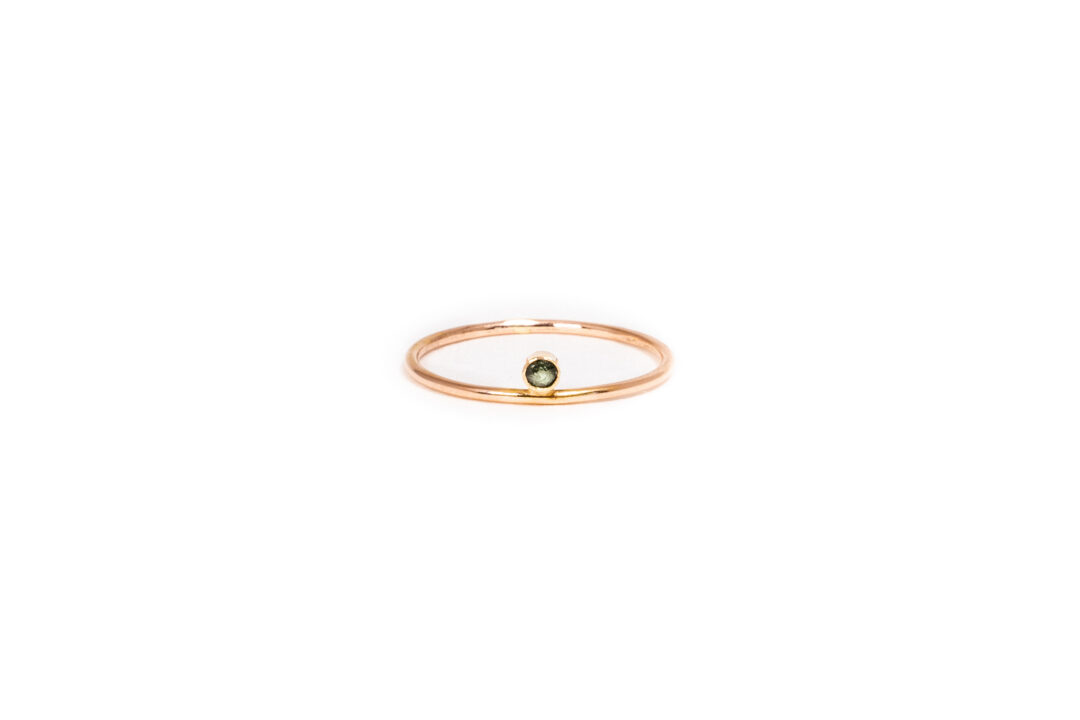 Jess The Mess - Green Tourmaline Rose Gold
