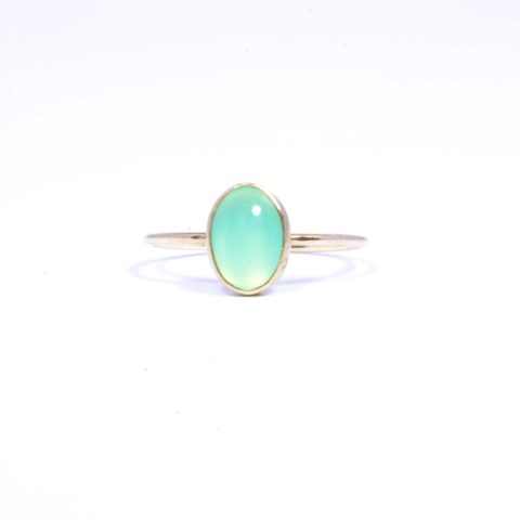 Philine The Piece Of Cake - Chrysoprase 14k - a little lem