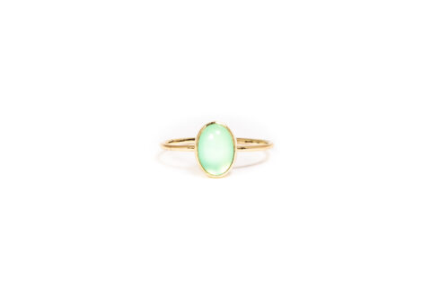 Philine The Piece Of Cake - Chrysoprase 14k