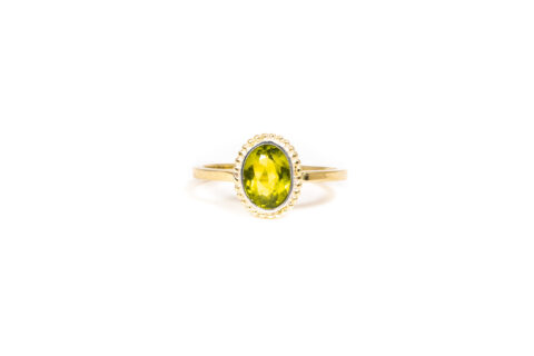 August Birthstone Ring - Peridot