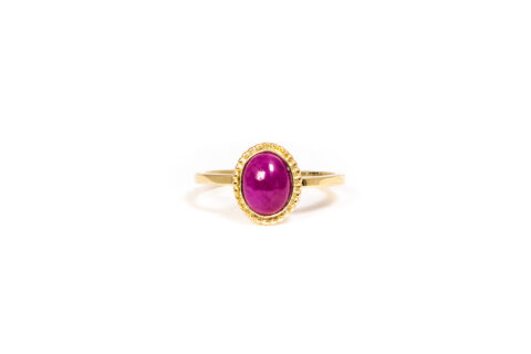 July Birthstone Ring - Ruby